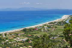 Girapetra-Strand, Lefkas, ionische Inseln Lizenzfreie Stockbilder