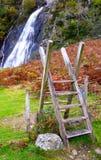 Girar-estilo à cachoeira Imagens de Stock Royalty Free