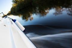 Girare veloce della barca Fotografie Stock Libere da Diritti