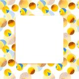 Girasol, bandera del cuadrado del marco de la abeja Fotografía de archivo libre de regalías