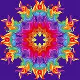 Girasol o mandala colorido del vector Fotografía de archivo libre de regalías
