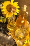 Girasol y petróleo Foto de archivo libre de regalías