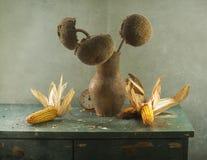 Girasoles con las pipas imagen de archivo