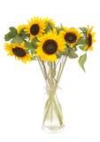 Girasoles en un florero Foto de archivo