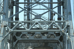 Girder and framing structure on bri Royalty Free Stock Images