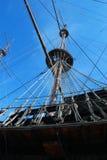 Girder of old galeon, Genova. Detail of Il Galeone Neptune ship, Genoa, Italy royalty free stock photos