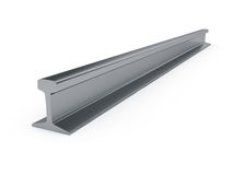 Girder rail isolated Royalty Free Stock Images