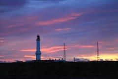 Girdleness灯塔在阿伯丁,苏格兰 免版税库存图片