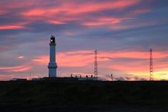 Girdleness fyr i Aberdeen, Skottland Arkivbilder