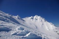 The Girdlestone Peak, Ruapehu royalty free stock photo
