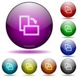 Gire botões de vidro direitos da esfera do elemento Fotos de Stock