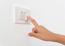 Gire el interruptor Imagen de archivo libre de regalías