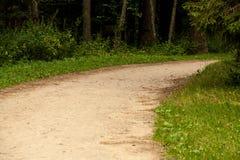 Gire a estrada do campo Fotografia de Stock Royalty Free