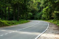 Gire a estrada do campo Imagem de Stock