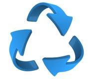 Gire la flecha azul Imágenes de archivo libres de regalías