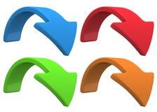 Gire la flecha azul Imagen de archivo libre de regalías