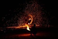 Gire o fogo Fotografia de Stock