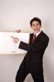 Gire o gráfico de cabeça para baixo Imagem de Stock Royalty Free