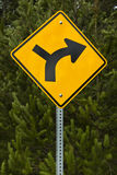 Gire o sinal de estrada direito Fotos de Stock Royalty Free