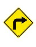 Gire o sinal de tráfego direito Imagem de Stock