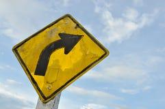 Gire o sinal direito Fotografia de Stock Royalty Free