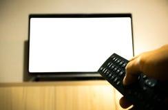 Gire sobre, desligue a televisão Fotografia de Stock