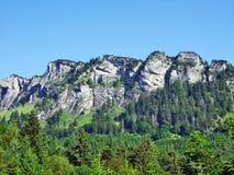 Girenspitz peak in the Appenzell Alps mountain range. Canton of St. Gallen, Switzerland royalty free stock photo