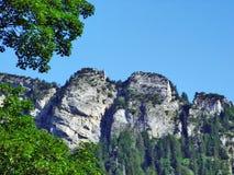 Girenspitz peak in the Appenzell Alps mountain range. Canton of St. Gallen, Switzerland stock photos
