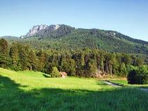 Girenspitz peak in the Appenzell Alps mountain range. Canton of St. Gallen, Switzerland royalty free stock images