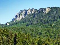 Girenspitz peak in the Appenzell Alps mountain range. Canton of St. Gallen, Switzerland royalty free stock photography