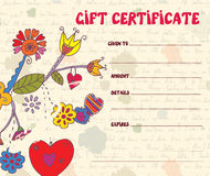 Girft certificate retro design Royalty Free Stock Photo