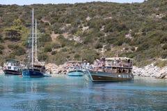 Giri in barca in Bodrum Fotografie Stock Libere da Diritti