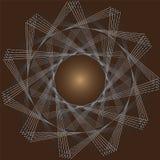 Giri dei triangoli su un fondo marrone Immagini Stock