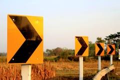Giri a destra Fotografie Stock Libere da Diritti