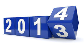 Giri di anno 2013 nell'anno 2014 Fotografie Stock