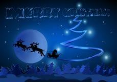 Giri di Santa sulla luna Fotografia Stock