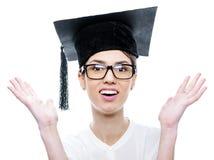 Giri in graduation hat Royalty Free Stock Photo