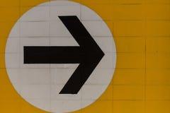 Giri il giusto simbolo Fotografie Stock Libere da Diritti