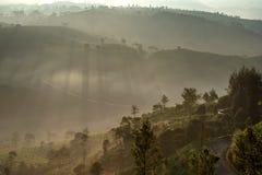 Giri peak sunrise. Sunrise moment from giri peak, west java. indonesia stock photo