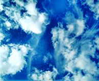 Giri rapidi nuvolosi di morbidezza Immagine Stock