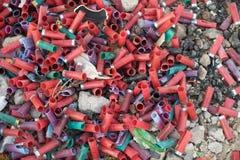 Giri usati del fucile da caccia immagine stock libera da diritti