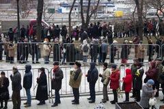 Giri verso la cerimonia d'addio con i politici Boris Nemtsov Immagini Stock