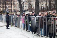Giri verso la cerimonia d'addio con i politici Boris Nemtsov Immagini Stock Libere da Diritti