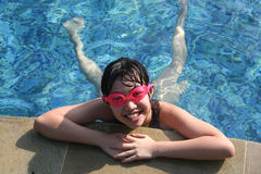 Giril at the pool Royalty Free Stock Photography