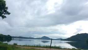 Giritale Lake. Beautiful lake near polonnaruwa Sri Lanka Royalty Free Stock Photo