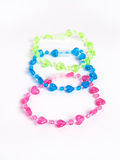 Girl´s plastic bracelet Royalty Free Stock Photo
