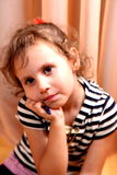 Girl. A beautiful girl sad in the room royalty free stock images