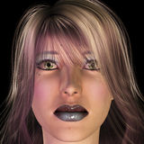 Girl. Digital visualization of a girl Royalty Free Stock Images