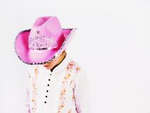 Girl. With cow hat on Stock Photos