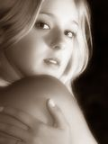 Girl. Beautiful girl with blond hairs Stock Image